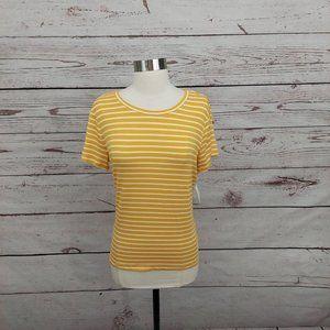 3/$30 Maison Jules Striped Short Sleeve Tee M